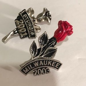 Other - Set of five biker event pins.